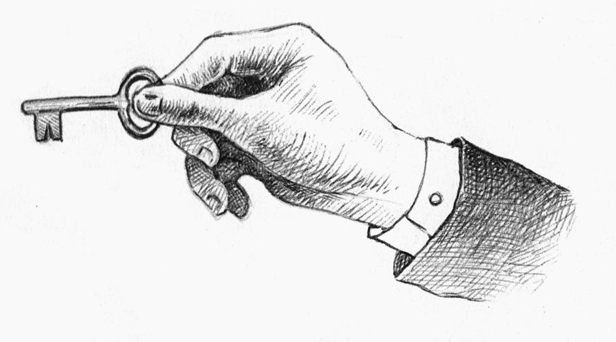 illustrazione mano chiave